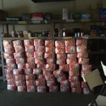 Dog food donated to the Williamston Food Bank by the Homeless Angels